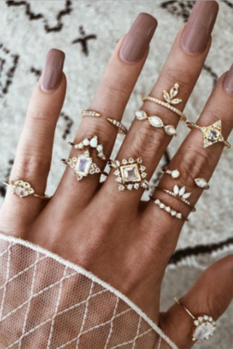 front_Starr Elizabeth Gold Rhinestone Detail Ring 12pcs