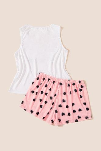 back_Eileen Jarum White And Pink Loungewear Set