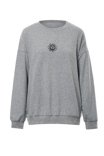 back_Club Hopping Light Grey Oversized Sweatshirt