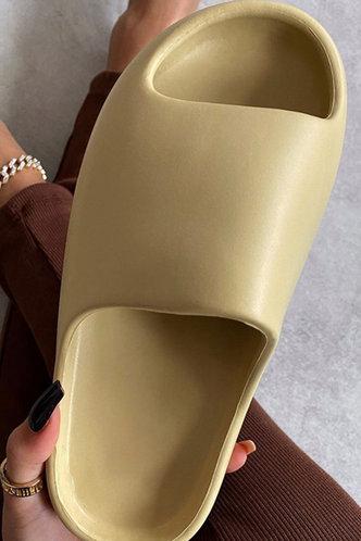 back_Cynthia Eunice Beige Slide & Flip Flop