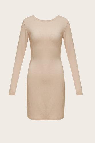 back_Plain  Light Khaki Above Knee Dresses