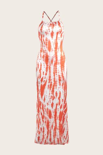 back_Caroline Ella Orange Tie Dye Cami Dress