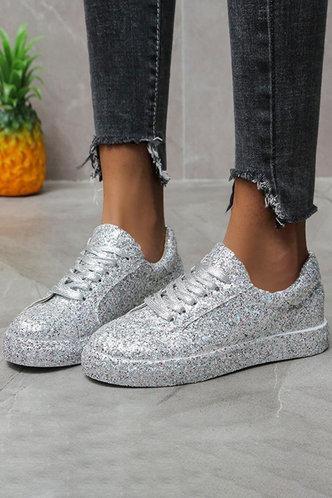 back_Griselda Makavel Silver Sneakers