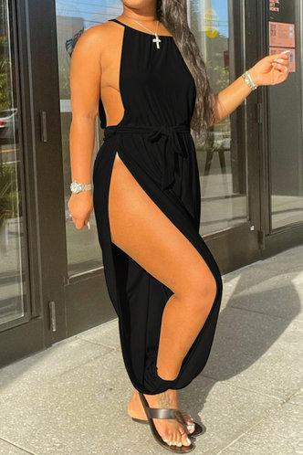 front_Aurora Karlan Black Jumpsuit
