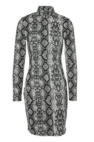 front_Poison Snake Print Bodycon Dress
