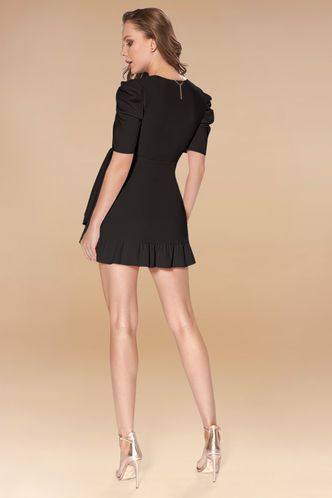 back_By Your Side Black Mini Dress