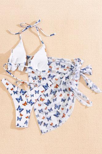 back_Arabela Eleanore White Butterfly Print Bikini