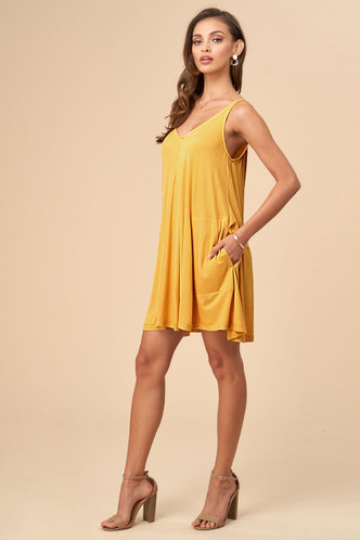 front_Free Style {Color} Shift Dress