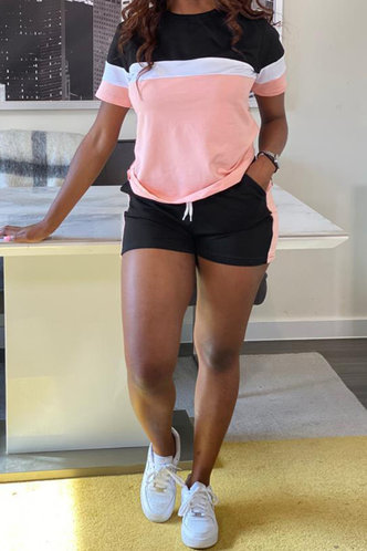back_Yvette Elma Black And Pink Set