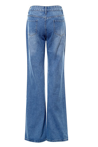 back_Tore Up {Color} Distressed Baggy Jeans