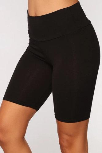 back_Agatha Elizabeth Black Biker Shorts