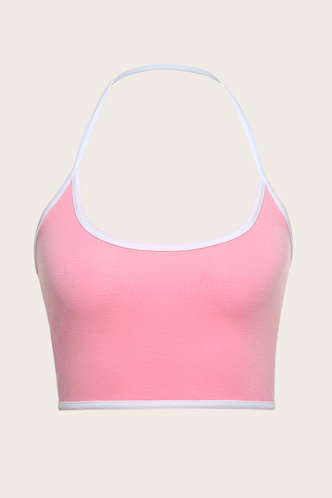 back_Alexandria Pink Crop Top