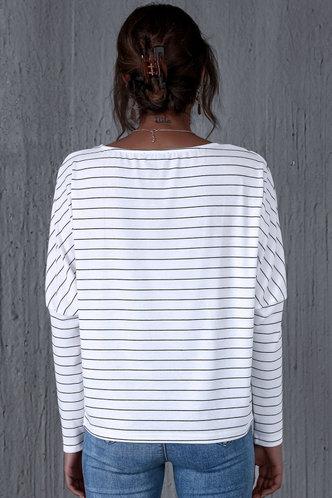 back_Habiba White Striped Tee