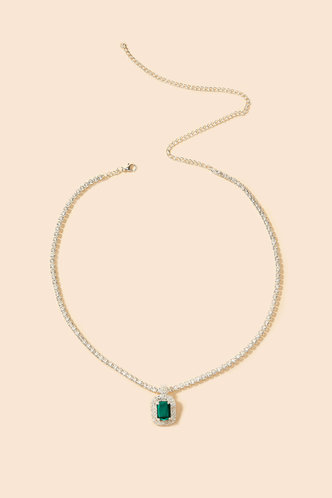 back_Eunice Kuvan Silver And Green Necklace 1pc