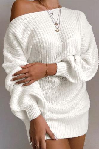 front_Gemma Evangeline White Plus Sweater