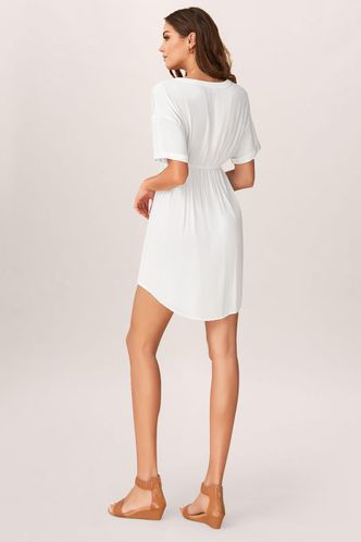 back_Solitude White Mini Dress