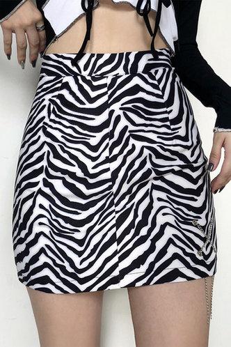 front_Dana Kredeblo Zebra Striped Skirt