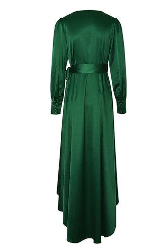 back_Glam It Up Dark Green Maxi Dress