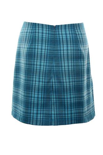 back_Azul Blue Plaid Skirt