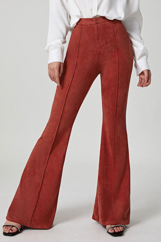 back_Groovy Burgundy Suede Pants