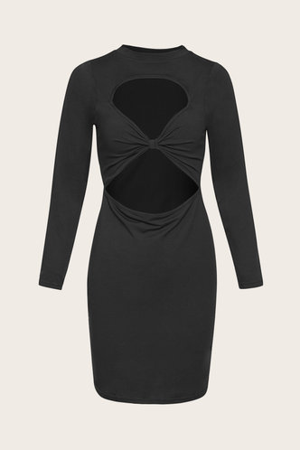 back_Nola Elaine Black Cut Out Dress