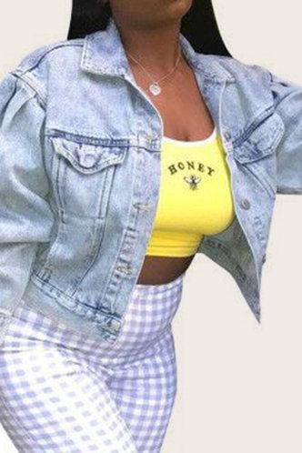 back_Selena Ethel Wash Light Blue Jacket