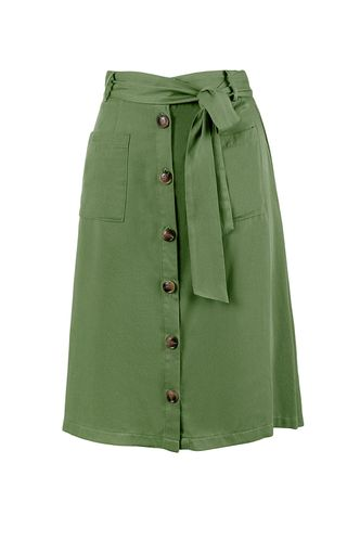 back_Street Lamp Army Green Skirt