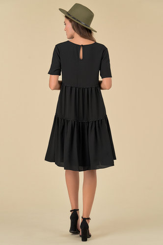 back_Meta Black Midi Dress