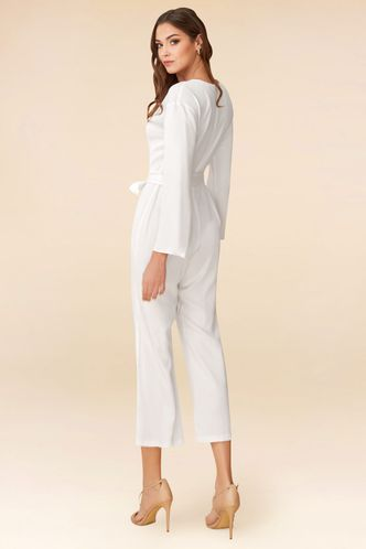back_Love and Affection White Jumpsuit