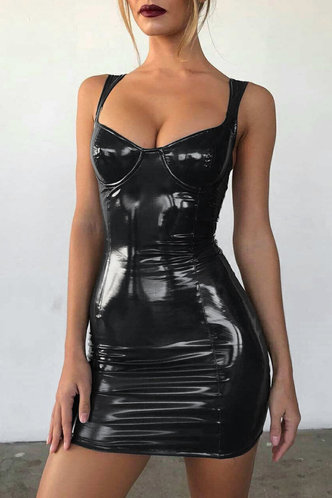 front_Katherine Eileen Black Bodycon Dress