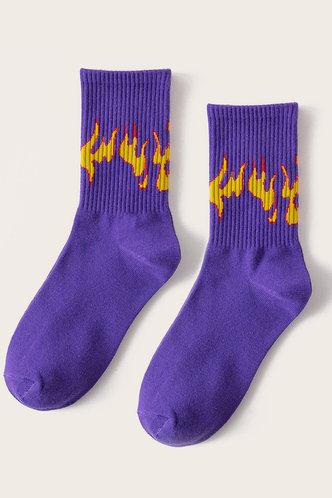 back_Janetta Ella Purple And Red Socks 2pairs