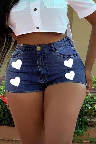 back_Lisbeth Erica Wash Dark Blue Denim Shorts