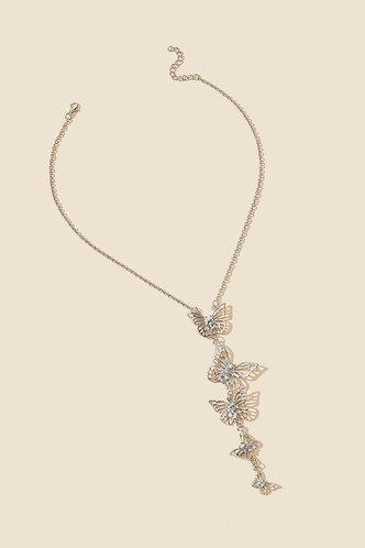 back_Anslow Elizabeth Sliver Butterfly Pendant Necklace