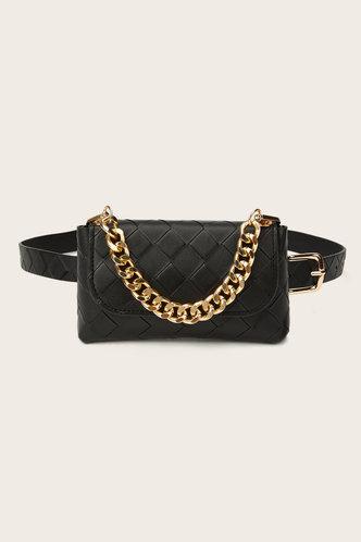 front_Heloise Garan Black Bum Bag