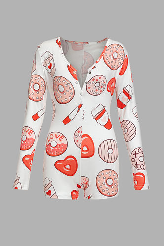 back_Adelina Elizabeth White And Graphic Print Loungewear