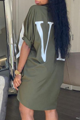 back_Phyllis Eve Army Green Button Up Dress
