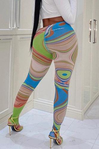 front_Lynda Esther Wave Print Leggings