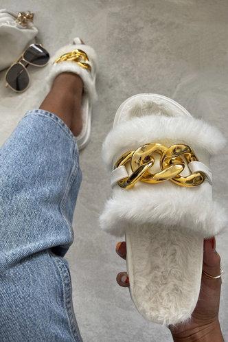 back_Flat White Slippers