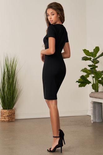back_Artic Moon Black Midi Dress