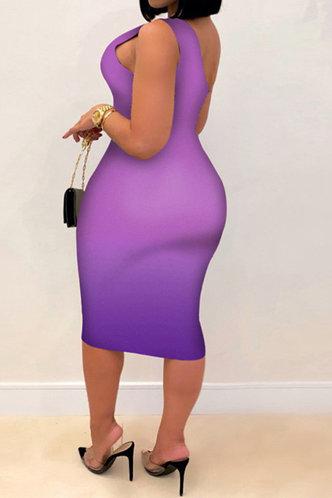 back_Mavis Enid Purple Gradient One Shoulder Bodycon Dress