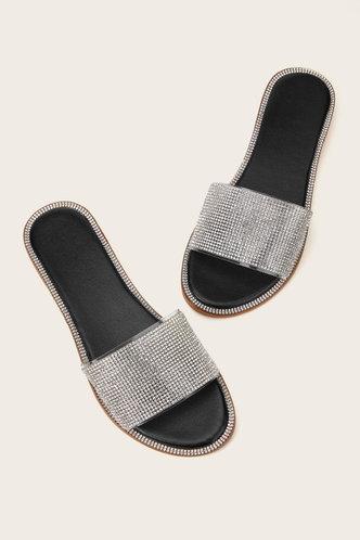 back_Angelou Elvira Black Slide Sandals