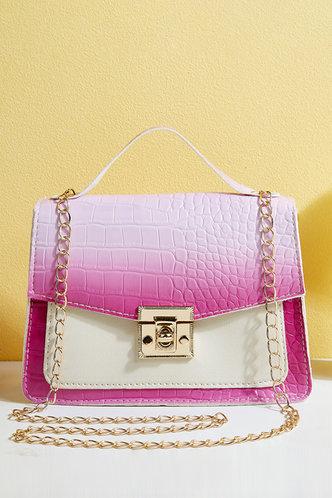 front_Eunice Hhorum Pink Gradient Satchel Bag
