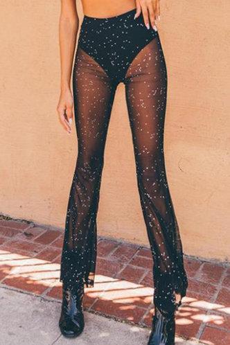 front_Brenda Elizabeth Black Flare Pants