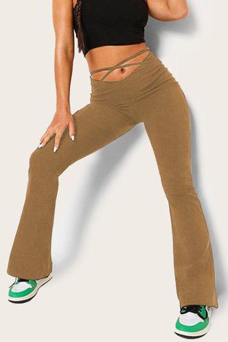 front_Margie Ella Khaki Flare Pants