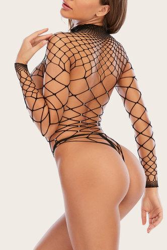 back_Daisy Land Black Sexy Lingerie