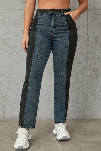 back_Jadwiga Multicolor Colorblock Jeans