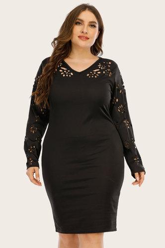 front_Candida Edwina Black Plus Dress