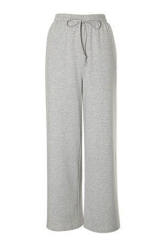 front_Baggy Babe Light Grey Drawstring Pants