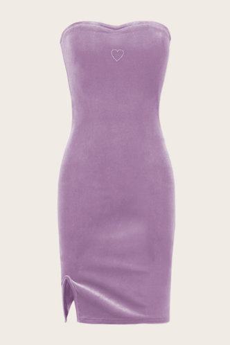 back_Eulalia Elma Purple Bodycon Tube Dress