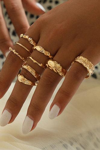 front_Matilda Emma Gold Ring 9pcs